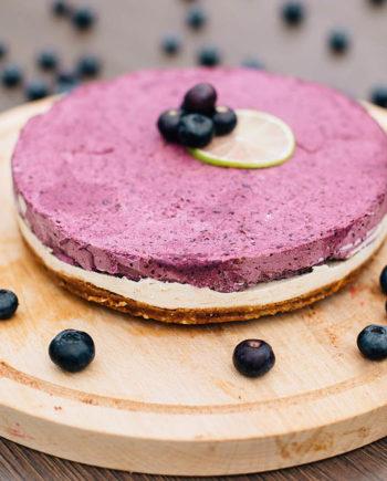 Raw Blueberry Lime Cake - prajitura afine lime - Greenlicious Oradea