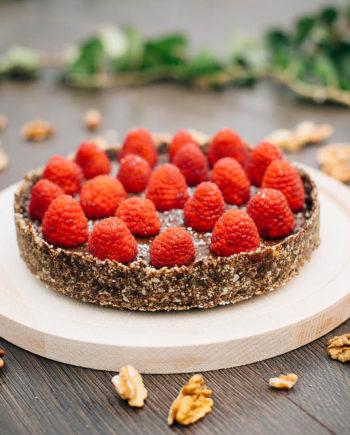 Raw Chocolate Mousse Cake - prajitura mousse ciocolata Greenlicious Oradea