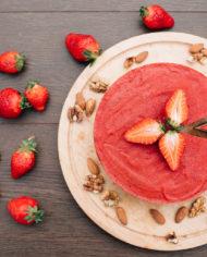 Raw Strawberry Cake – prajitura capsuni – Greenlicious Oradea (5)